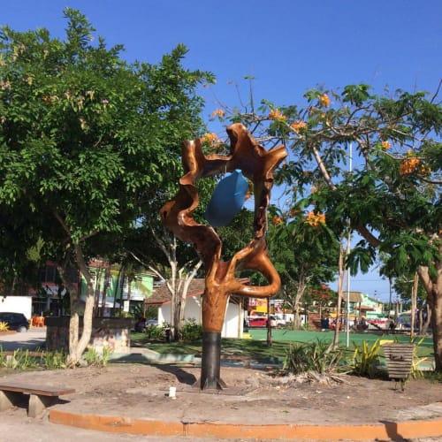 Public Sculptures by Atelier Hugo França seen at Praça Da Independência - Rua do Dero - Trancoso