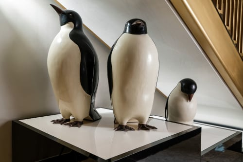 Sculptures by Robert Kuo at The Alise San Francisco - A Staypineapple Hotel, San Francisco - Penguins