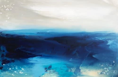 Paintings by Kathleen Rhee seen at Private Residence, Coolamon - Blue Contemporary Painting