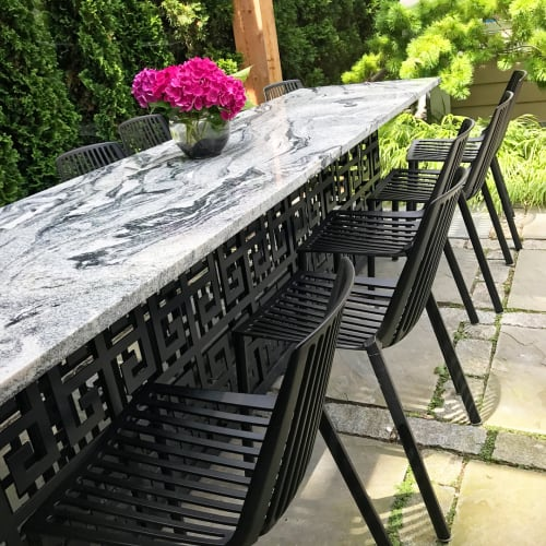 Tables by Alex Drew & No One seen at Private Residence, Detroit - Custom Terrace Dining Table