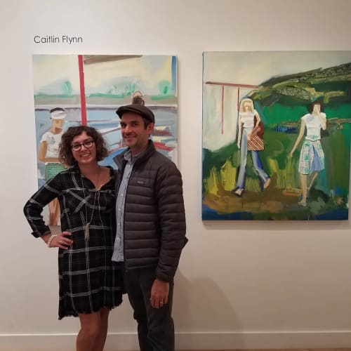 Paintings by Caitlin Flynn seen at Plum Gallery, St. Augustine - Paintings