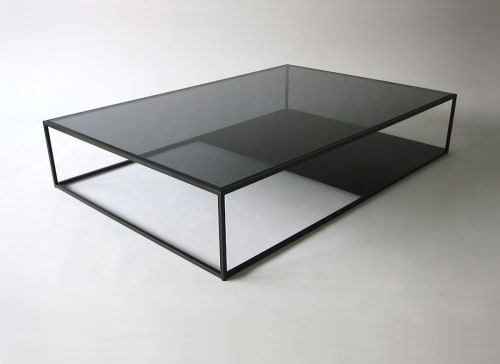 Tables by Phase Design by Reza Feiz at Cadillac House, New York - Half & Half Coffee Table