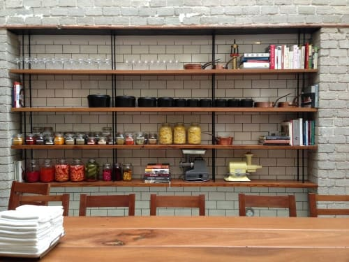 Furniture by District Mills at République, Los Angeles - Shelving