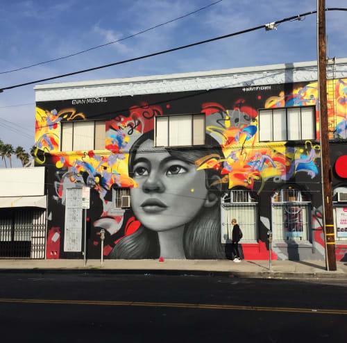 Street Murals by Evan Mendel seen at Koreatown, New York - Beautify Earth