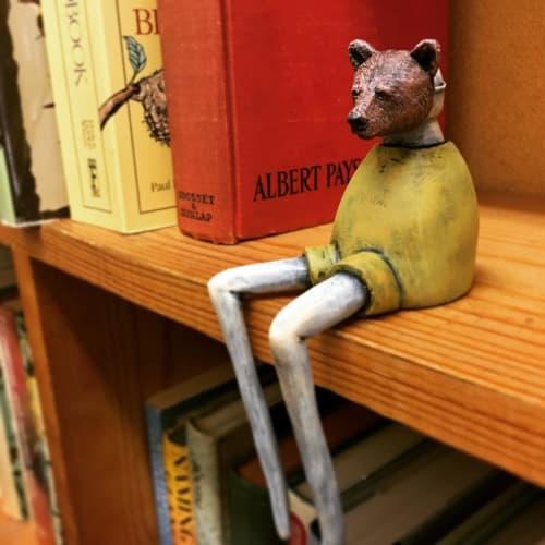 Sculptures by Steve Ferrera seen at Bookman, Orange - Bear Disciples