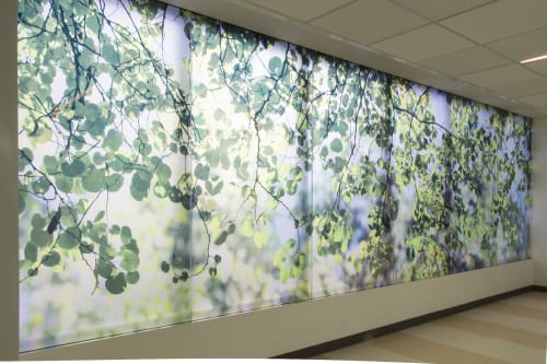 Art & Wall Decor by Stephen Galloway seen at Zuckerberg San Francisco General Hospital and Trauma Center, San Francisco - Redbud Redux Suite
