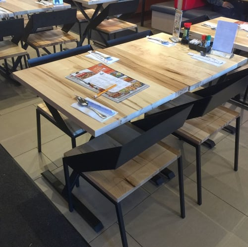 Tables by YJ Interiors seen at Donburi, Markham - Dining Set