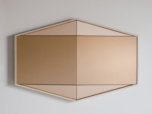 Art & Wall Decor by Robert Sukrachand seen at Private Residence, Brooklyn - Peach Gem Mirror