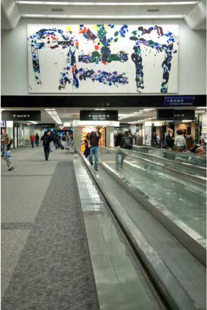 Paintings by Sam Francis at San Francisco International Airport, San Francisco - Untitled 1980