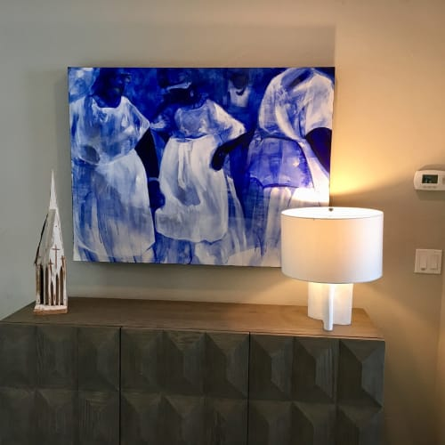 Paintings by Charmaine Minniefield seen at Private Residence, Atlanta - Black Angels