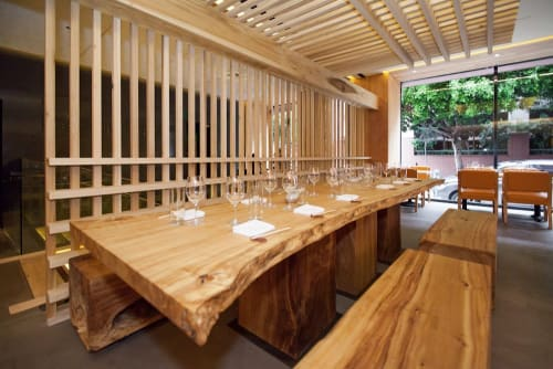 Tables by Arcanum Architecture seen at Roka Akor San Francisco, San Francisco - Long Communal Table