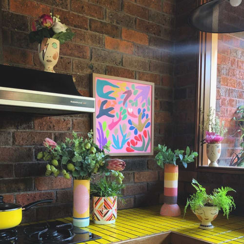 Paintings by Hayley Wills seen at Private Residence, Melbourne - In the pink