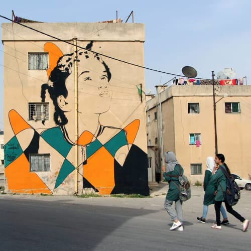 "Street Murals by Don Mateo seen at Amman, Amman - ""The way of life"""