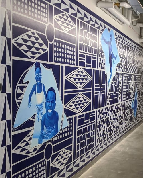 Murals by Troy Chew seen at Facebook, San Francisco - Mural