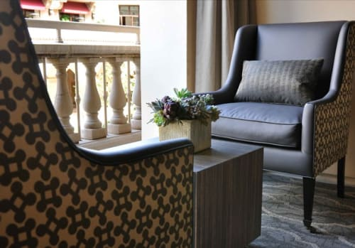 Chairs by Plush Home by Nina Petronzio seen at £10 (Ten Pound Bar), Beverly Hills - Westmount Wingback Chairs