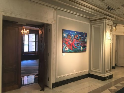 Paintings by Joyce Owens seen at The Blackstone, Autograph Collection, Chicago - Dream Big