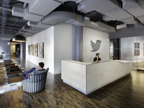 Chairs by Phase Design by Reza Feiz at Twitter, New York, New York - Bride's Veil Chair