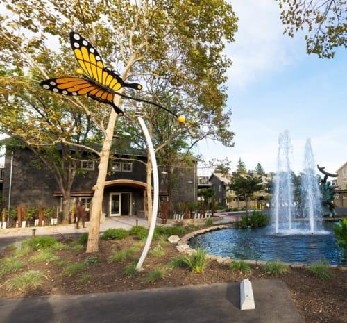 Sculptures by David Hickman seen at Senza Hotel, Napa - Monarch