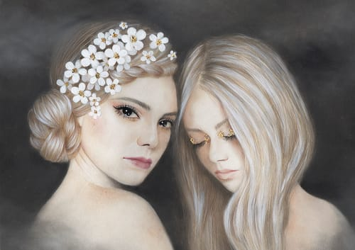 Paintings by Bec Winnel seen at Thinkspace Gallery, Culver City - Softly Safe