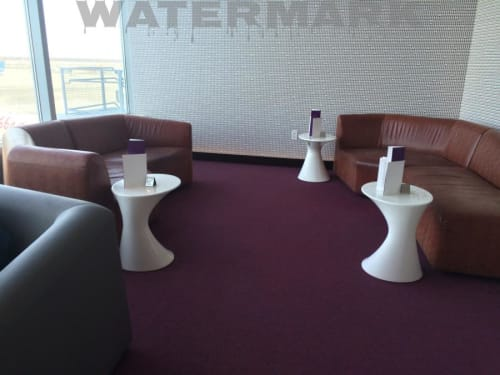 Tables by Todd Bracher seen at Virgin Atlantic Clubhouse - John F Kennedy International Airport, New York - Zanotta Tables