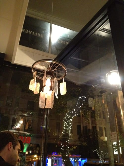 "Chandeliers by Lisa Carroll seen at Bun Mee (Filmore Location), San Francisco - ""Timotheo"" Chandelier"
