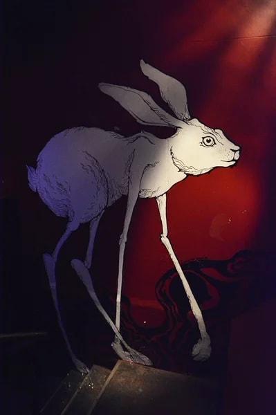 Murals by Zofia Bogucka seen at Maze - Arts Culture and Living, Berlin - Dali Rabbit