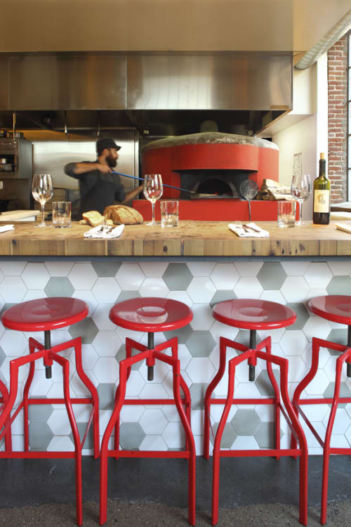 Tables by District Mills at Bestia, Los Angeles - Pizza Bar Top