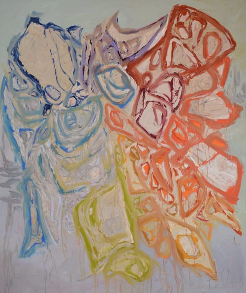 Paintings by Beth Gandy seen at Private Residence, Fort Worth - UNFURLING COLOR