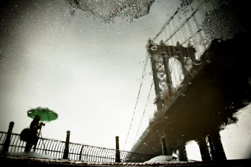 Photography by Guillaume Gaudet seen at Hotel Hugo, New York - The Photographer And The Bridge