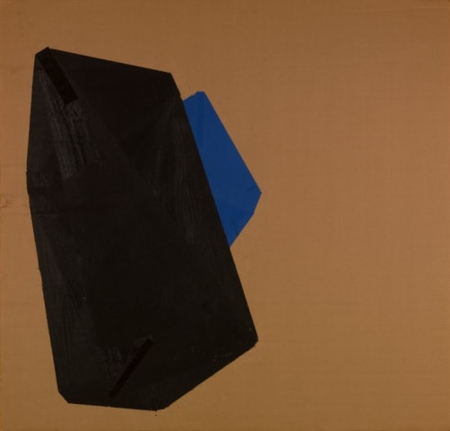Paintings by Judy Rifka seen at Albright-Knox Art Gallery, Buffalo - Cardboard Painting, 1974
