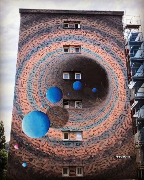Street Murals by iZZY iZVNE seen at Grenoble, Grenoble - Street Art Fest Grenoble Alpes Mural