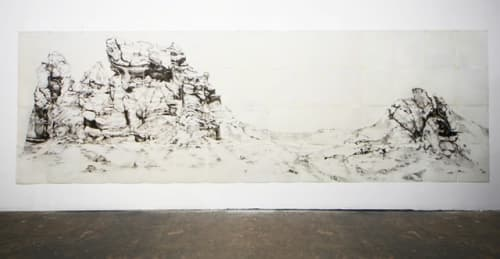 Paintings by Afton Love at Mister Jiu's, San Francisco - Landscape Art Created with Graphite