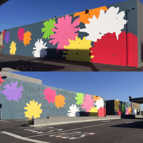 Murals by Amanda Lutz-Beheshti seen at Montebello Mix, Montebello - City of Flowers Mural