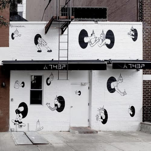 Street Murals by Kantapon Metheekul seen at Manhattan New York, New York - Teleport
