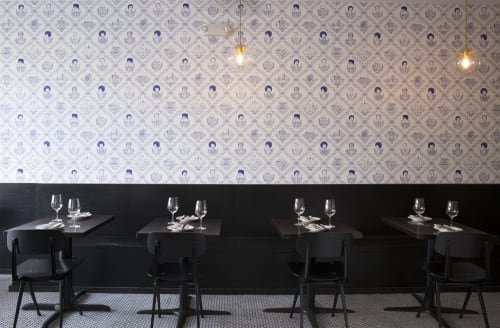 Wallpaper by Matt Ritchie seen at Fiorella, San Francisco - Bay Area Toile