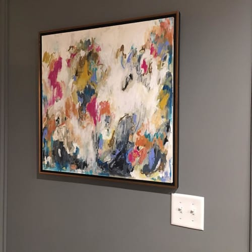 Paintings by Hello Allison Art seen at Private Residence, Richmond - Abstract Paint