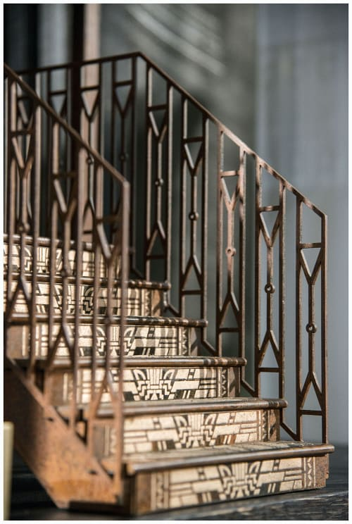 Hardware by Amuneal seen at TED BAKER 5th Avenue Store, New York - Bronze Filigree Staircase