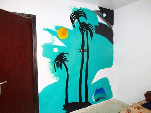 Murals by Cera Cerni seen at Private Residence, Lekki - Wall Art Mural