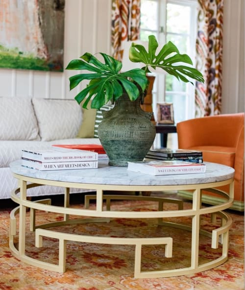Tables by vanCollier at Private Residence, Charlotte - Jeannie