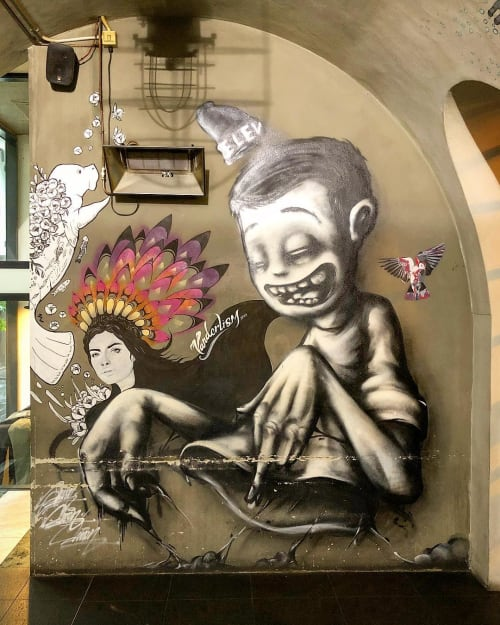 Street Murals by Emily Vanderlism seen at Melbourne, Melbourne - Mural