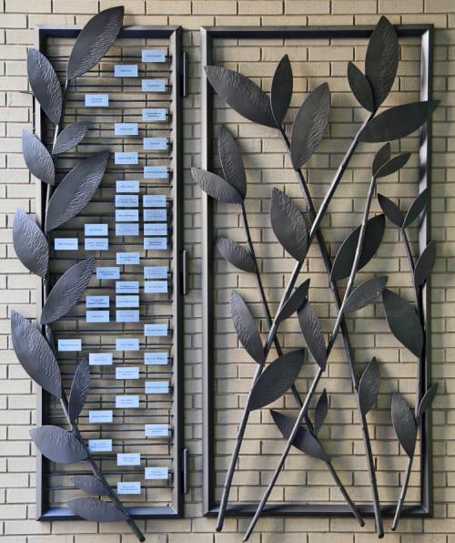 Sculptures by Madacsi Studios seen at VillageCare Rehabilitation & Nursing Center, New York - Leaf