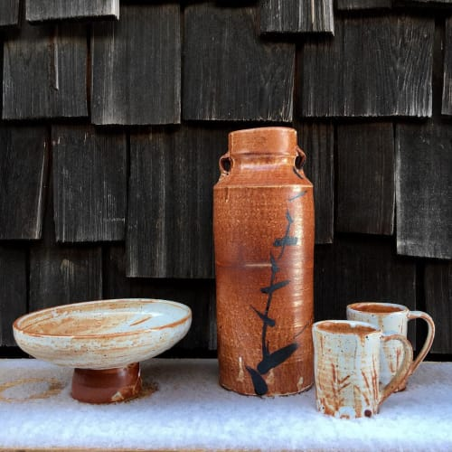Tableware by Matthew Krousey Ceramics seen at Matthew Krousey Ceramics, Harris - Shino pots