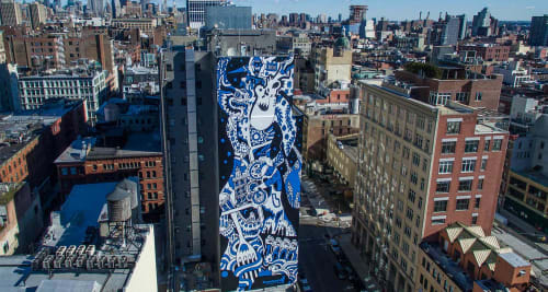 "Murals by Misha ""MDot"" Tyutyunik seen at 11 Howard, New York - Mural"