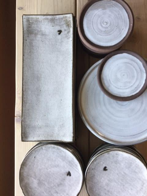 Ceramic Plates by Akiko's Pottery seen at Akiko's Restaurant, San Francisco - Handmade Ceramic Sushi Plates