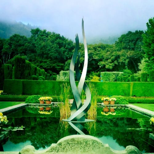 Sculptures by Archie Held seen at Filoli, Woodside - Entice Sculpture