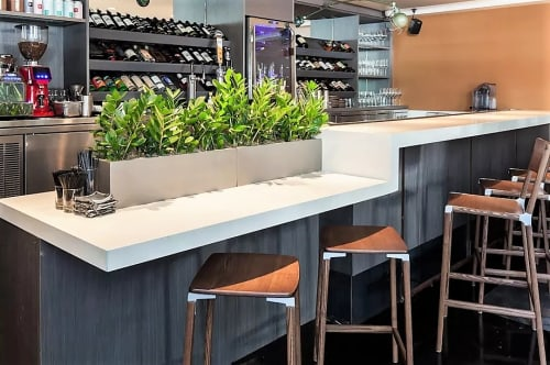 Chairs by Fyrn at The Morris Restaurant, San Francisco - De Haro Backless Counter Stool