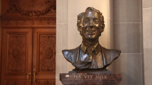 Sculptures by Jonah Hendrickson seen at San Francisco City Hall, San Francisco - Harvey Milk Sculpture