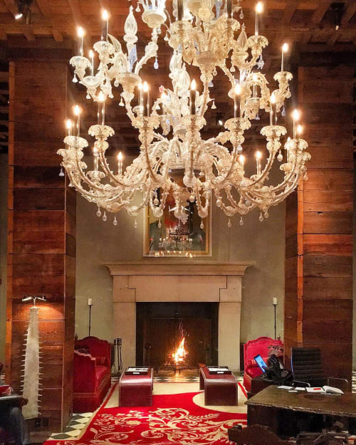 Chandeliers by Julian Schnabel seen at Gramercy Park Hotel, New York - Venetian Chandelier