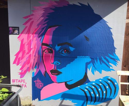 Tape Art Wall in Anomalie Club | Murals by Fabifa | Anomalie Art Gallery in Berlin