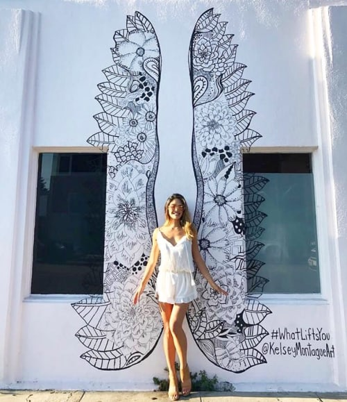Murals by Kelsey Montague seen at Principessa, Los Angeles - Wing